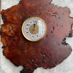 Red Malley Burl Clock
