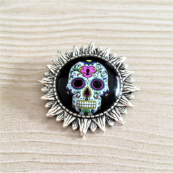 Day of the Dead / Sugar Skull Brooches / Badges / Pins