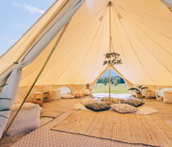 6m Canvas Bell Tent (Double Door)