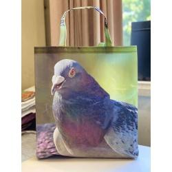 Upcycled Feedbag – Pigeon