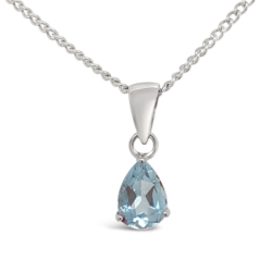 Natural Blue Topaz Pendant