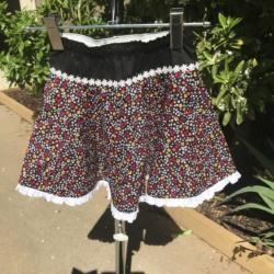 Girl's cotton full circle skirts with drawstring elastic waistband