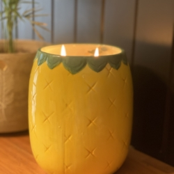 Pineapple candle/planter pot