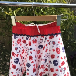 Hello Kitty. Girl's cotton full circle skirts with drawstring elastic waistband