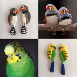 Your Pet Bird – custom made earrings