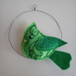 Hanging bird ornament