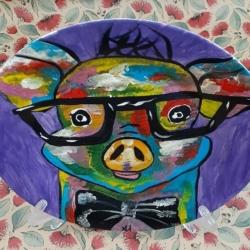 Hand Painted Porcelain Plate – Boss Hog