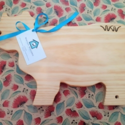 Wooden Chopping Board – Cow