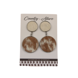 Cowhide Double Dangle Earring