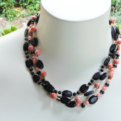 Wood & Gemstone Necklace