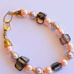 Pink Shell Pearl Bracelet
