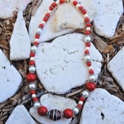 Red & White Neckalce