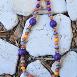 Wood & Ceramic Necklace