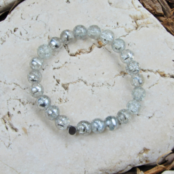Silver & Crystal Drawbench Stack Bracelet