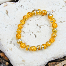 Yellow & Silver Stack Bracelet