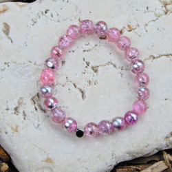 Pink & Silver Stack Bracelet