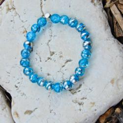 Blue & Silver Stack Bracelet