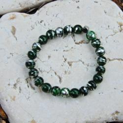 Green & Silver Stack Bracelet
