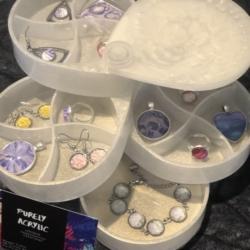 Jewellery Box: 360° Rotating 4-Tier Jewelry Organizer