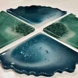 Mix & Match Resin Agate Coasters: Set Of 4