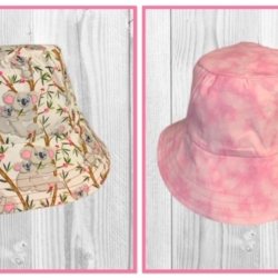 HANDMADE REVERSIBLE BUCKET HAT – ' KOALA '