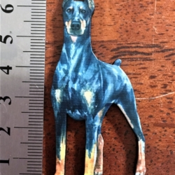 Doberman Brooches / Shawl Pins / Badges