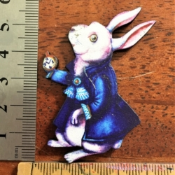 The White Rabbit Brooch / Shawl Pin / Embellishment