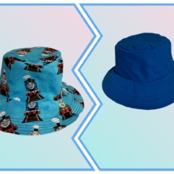 HANDMADE REVERSIBLE BUCKET HATS- ' THOMAS'