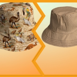 HANDMADE REVERSIBLE BUCKET HAT – ' AUSTRALIAN ANIMALS '