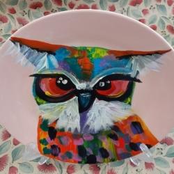 Hand Painted Porcelain Plate – Oscar Owl