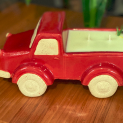 Red Ute Candle/planter pot