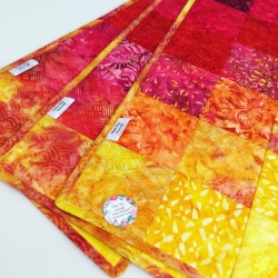 Quilted Batik Table Runner – Sunset in the Bay