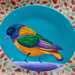 Hand Painted Porcelain Plate – Tweety Bird