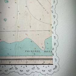 Map on Paper, Vintage Art