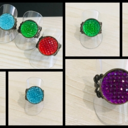 Eye catching Filigree Rings – 5 colours – adjustable