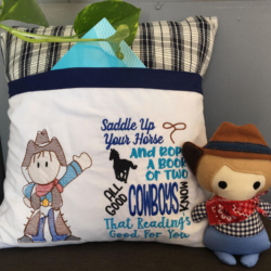 Reading Pillow and Pocket Pal Cow Boy