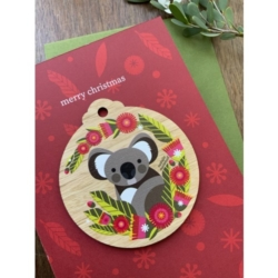 KOALA WOODEN DECORATION