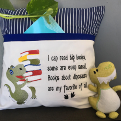 Reading Pillow and Pocket Pal Dino