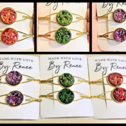 Eye catching Golden Hair Pins – 3 colours – sold in pairs