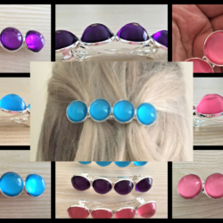 Eye Catching Silver Barrettes – 3 Colours – Suits most hair types