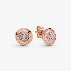 Pandora ROSE Logo Earrings