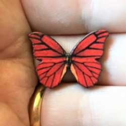 Colourful Mini Butterfly Brooches / Pins / Embellishments – 10 Styles