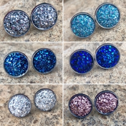 Sparkling Stainless Steel Resin Studs