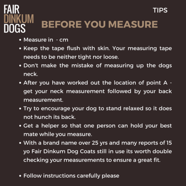 Before you measure