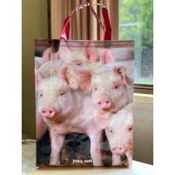 Upcycled Feedbag – Piglet 1