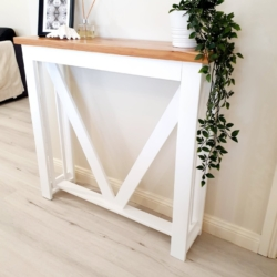 White and Black Cypress Timber Hall Table – Local Pick up / Delivery to NSW addresses only.