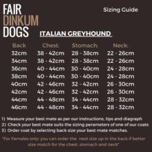 Fair Dinkum Dogs Italian Greyhound Coats