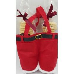2 Doz Traditional Shortbread in Santa's Trousers