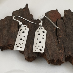 Sterling Silver Holey Earrings