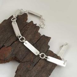 Sterling Silver Solid Links Bracelet